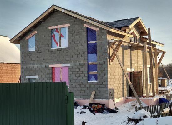 Дом из теплоблоков Духовое
